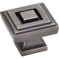 "Jeffrey Alexander By Hardware Resource - Delmar Collection Pulls - 1.25"" Overall Length in Brushed Pewter"