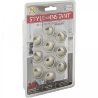 """Elements by Hardware Resources - Retail Pack Hardware Collection Cabinet Knob - 1.12"""" Diameter in Satin Nickel"""