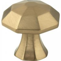 "Jeffrey Alexander by Hardware Resources - Wheeler Collection Cabinet Knob - 1.25"" Diameter in Satin Bronze"