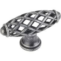 """Jeffrey Alexander By Hardware Resource - Tuscany Collection - 2.313"""" Overall Length in Distressed Antique Silver"""