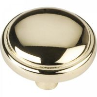 "Elements by Hardware Resources - Palisade Collection Cabinet Knob - 1.12"" Diameter in Polished Brass"