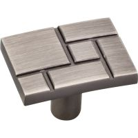 "Jeffrey Alexander By Hardware Resource - Breighton Collection - 1.438"" Overall Length in  Brushed Pewter"