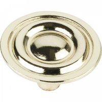 "Elements by Hardware Resources - Palisade Collection Cabinet Knob - 1.31"" Diameter in Polished Brass"
