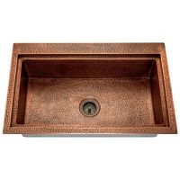 "Single Bowl Dual-Mount Copper Sink - Fits 33"" minimum cabinet size"