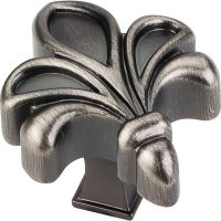 "Jeffrey Alexander By Hardware Resource - Evangeline Collection Knobs - 1.75"" Overall Length in Brushed Pewter"