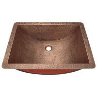 "Single Bowl Copper Sink - Fits 21"" Minimum Cabinet Size"