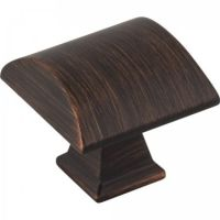 "Jeffrey Alexander by Hardware Resources - Roman Collection Cabinet Knob - 1.25"" Diameter in Brushed Oil Rubbed Bronze"