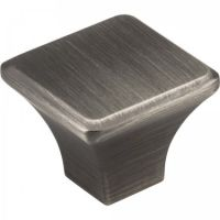 "Jeffrey Alexander by Hardware Resources - Marlo Collection Cabinet Knob - 1.25"" Diameter in Brushed Pewter"