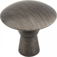 "Elements by Hardware Resources - Zachary Collection Cabinet Knob - 1.06"" Diameter in Brushed Pewter"