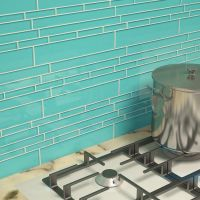 "Cristezza Club Glass Tile in Teal - 9.5"" x 10.5"""