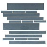 "Cristezza Club Glass Tile in Dark Slate - 9.5"" x 10.5"""