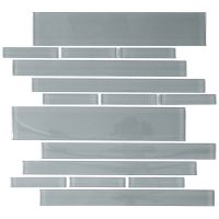 "Cristezza Club Glass Tile in Gray - 9.5"" x 10.5"""