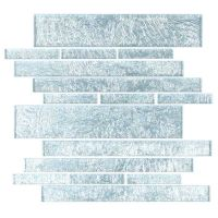 "Cristezza Club Glass Tile in Silver Foil - 9.5"" x 10.5"""