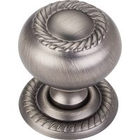 "Jeffrey Alexander By Hardware Resource - Rhodes Collection - 1.25"" Diameter in Brushed Pewter"