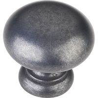 "Elements By Hardware Resource - Geneva Collection Knobs - 1.25"" Diameter in Gun Metal"
