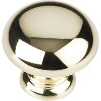 "Elements By Hardware Resource - Geneva Collection Knobs - 1.25"" Diameter in Polished Brass"