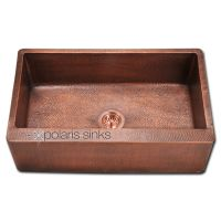 Single Bowl Copper Apron Sink