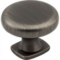 "Jeffrey Alexander by Hardware Resources - Belcastel 1 Collection Cabinet Knob - 1.37"" Diameter in Brushed Pewter"