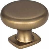 "Jeffrey Alexander by Hardware Resources - Belcastel 1 Collection Cabinet Knob - 1.37"" Diameter in Satin Bronze"