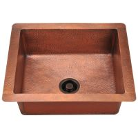 "Single Bowl Copper Sink - Fits 27"" Minimum Cabinet Size"